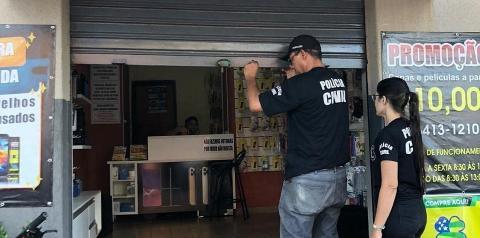 POLÍCIA CIVIL FISCALIZA ESTABELECIMENTOS COMERCIAIS DA CIDADE DE MORRINHOS
