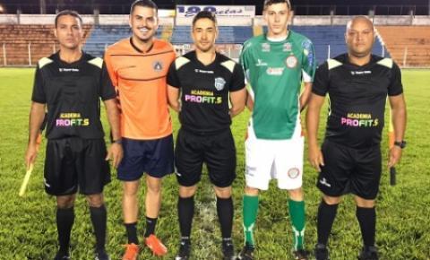 Gabriel Gava, esteve hoje em jogo de apoio ao Morrinhos Futebol Clube Sub 20