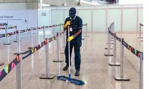 Limpeza profissional de aeroportos é reforçada durante a pandemia