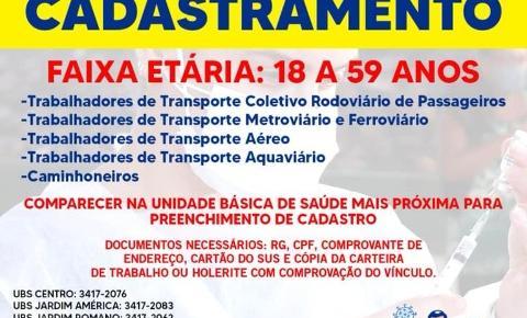 Prefeitura convoca caminhoneiros e trabalhadores de transportes para cadastramentos