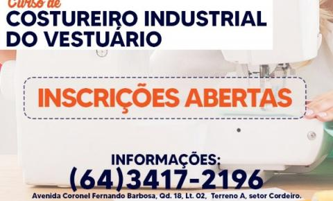 Prefeitura abre inscrições para o Curso de Costureiro Industrial do Vestuário