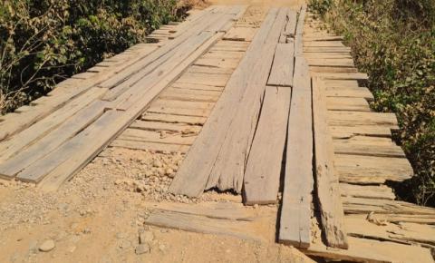 Prefeitura informa interdição da ponte do Ribeirão do Munho para reparos emergenciais