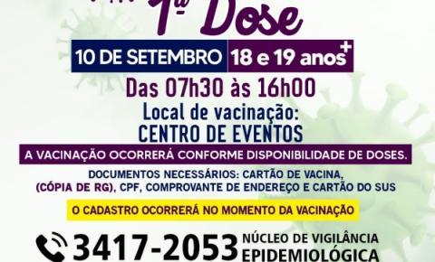 Prefeitura de Morrinhos divulga vacinação de público com 18 e 19 anos